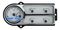 Dakota Digital 48 49 50 Ford Pickup Truck Dash Gauges Silver Blue Vhx-48f-pu-s-b
