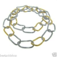 36 Eternally Haute Gold Tone And Silver Tone Steel Mesh Chain Link Necklace