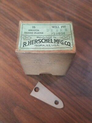 Inventive Herschel 25 Smooth Guard Plates Fits John Deere P12954 Mb-1116-x4 Antique & Vintage Equipment Parts