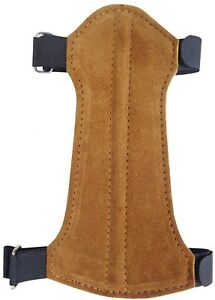 Fine Suede Leather Arm Guard Size:19cm Long x 9cm Archery Product AG-216C.YOUTH