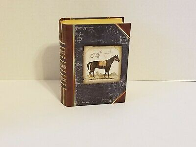 Small Horse Themed Storage Box That Looks Like A Book | eBay