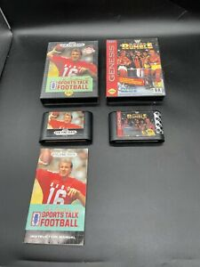 Joe Montana Sports Talk Football & WWF Royal Rumble Sega Genesis LOT OF 2 GAMES
