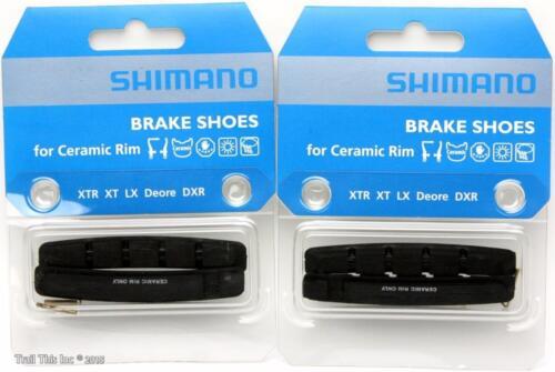 2-Packs Shimano M70R Ceramic Rim Bicycle V-Brake Pads fits XTR XT LX Deore DXR