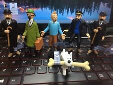 6pcs The Adventures of Tintin Snowy Captain Haddock Thompson 4-9cm PVC Figure
