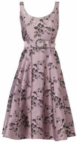 Occasion Wedding Fit Pink Floral Eight Belt Flare Dress Jacquard amp; Phase 8 61qz5xwv5