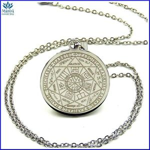 Sigillo-di-Salomone-talismano-amuleto-sette-arcangeli-da-uomo-donna-in-acciaio-a