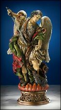 NS838 Statue St Saint Michael Archangel Angel Painted Resin 9 3/4  In Gift Box