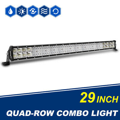 10D 29INCH 2928W Led Work Light Bar Quad Row Flood Spot Combo Offroad SUV 4WD 30