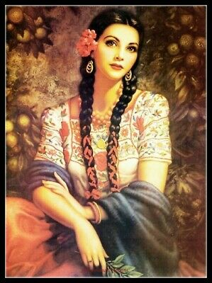 Spanish Lady 17 DIY Chart Counted Cross Stitch Patterns Needlework Embroidery