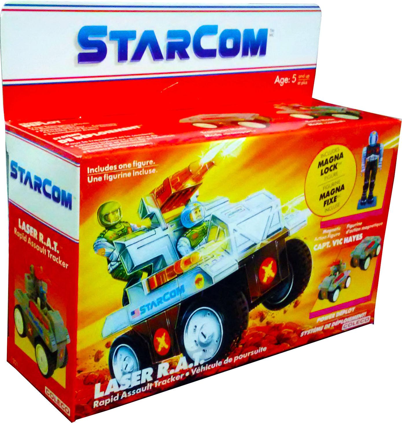 StarCom láser R.A.T. ™ asalto Rastreador para Vehículos-Vintage 1986-como Nuevo En Caja Sellada Nuevo  figura De Acción autoridad él
