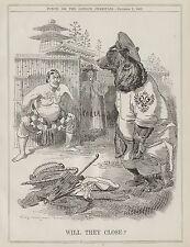 Vintage Cartoon Punch 1903 - China Russia Japan War Korea Chinese Manchuria 8x10