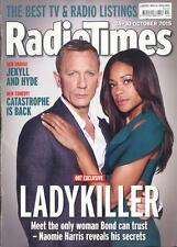 RADIO TIMES October 2015 James Bond Daniel Craig Spectre Naomie Harris NEW