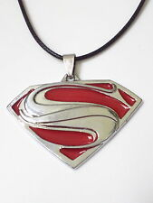 Cool  SUPERMAN Logo Stainless Steel Pendant on Cotton Cord. Free P&P