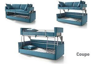 Coupe Sofa Sleeper Bunk Bed Convertable! Modern Contemporary Futon