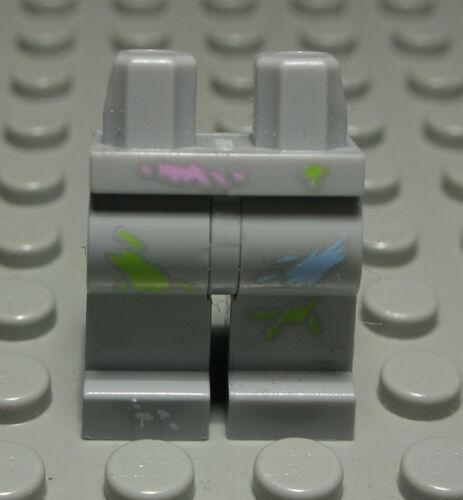 Lego Figur Zubehör Beine Hose new Grau mit Dekor 1299 #