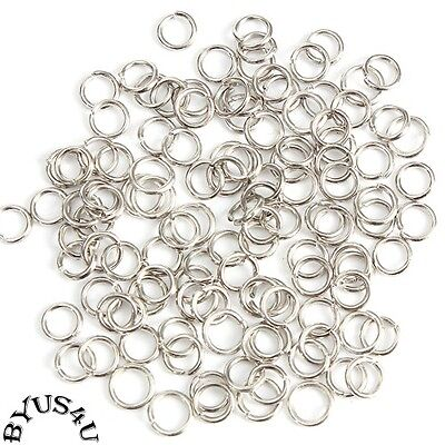JUMP RINGS 5mm OPEN or SPLIT DOUBLE 20g CONNECTORS 100pc