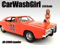 Car Wash Girl Jennifer Figure For 1:24 Scale Models By American Diorama 23945