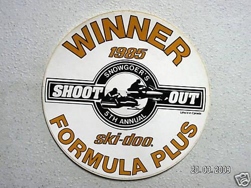 """Vintage /""""Formula Plus Shootout 5th Annual/"""" sticker #010"""