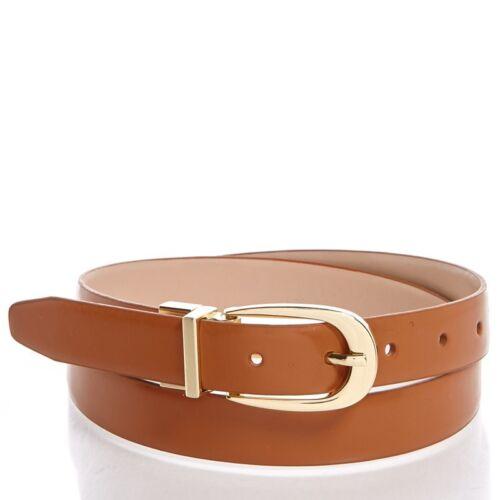 "NWT 1/"" Reversible Camel Brown /& Tan Leather Belt Nine West Women/'s XL"