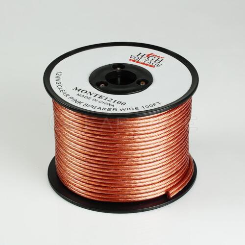 Car Home Audio Speaker Wire 12 Gauge 100ft 100/' Oxygen Free High Strand Free Shi