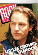 U2 / BONO - STING - NIAGARA - HUEY LEWIS - ROCK & FOLK #256 + POSTER - Oct. 1988