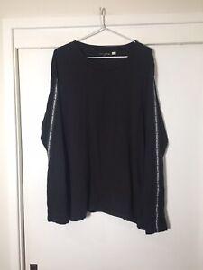 Cheap-Monday-Mens-Black-Long-Sleeve-Basic-T-Shirt-Size-XL-Good-Condition