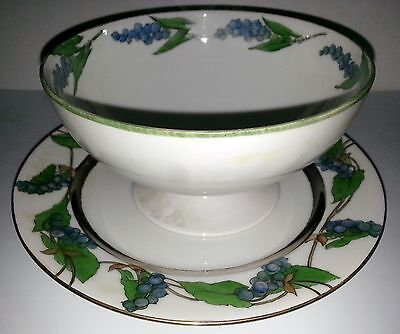 Collectibles Decorative Collectibles Haviland France Porcelain Pedestal Bowl & Matching Plate Signed M L Wagner Relieving Rheumatism And Cold