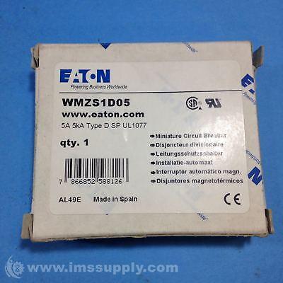 Eaton Miniature Circuit Breaker WMZS1D01 1A 5kA type D SP UL1077
