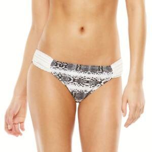 Candie-039-s-Juniors-Size-XS-S-M-L-Snakeskin-Lace-Animal-Print-Hipster-Bikini-Bottom
