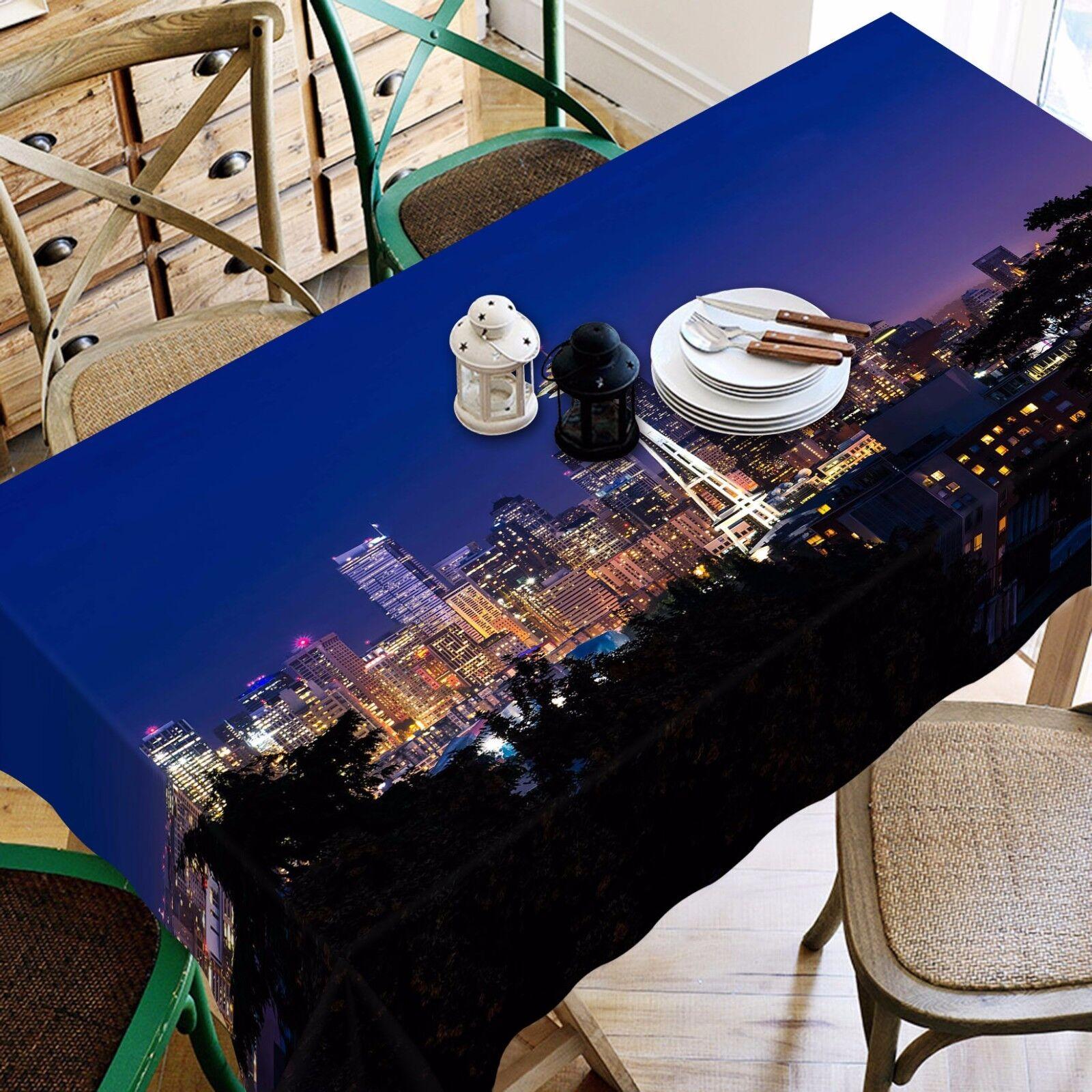 3D Sky City 805 Nappe Table Cover Cloth Fête D'Anniversaire événement AJ papier peint UK