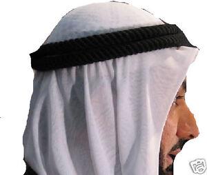 Autentico-y-NUEVO-Arab-Cabeza-SHEMAGH-Kafiya-Agal-Agal-Solo