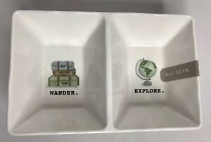 Rae-Dunn-Wander-Explore-Divided-Dish-Candy-Bowl-Serve-Outdoor-Melamine-Dorm-Gift