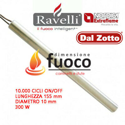 CANDELETTA ACCENSIONE STUFA PELLET 180X10 MM WATT 300 COMPATIBILE