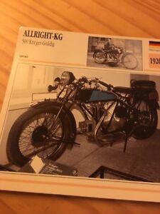 Allright-KG-Krieger-benevolente-1926-Tarjeta-motorrad-Coleccion-Atlas