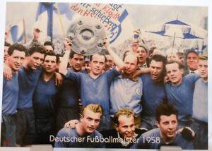 FC-Schalke-04-Deutscher-Fussball-Meister-1958-Fan-Big-Card-Edition-F70