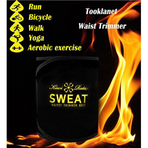 Sport Sweat Band Waist Trimmer Neoprene Muscle Compression Slim Body Shaper Belt