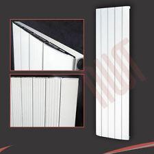 """470mm (W) x 1800 mm (H) """"cariad"""" Verticale Alluminio Bianco Designer RADIATORE 5584btu"""