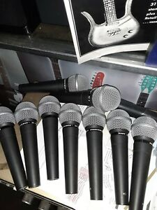 10-MICROPHONE-LOT-LOW-Z-ALL-TESTED-FREE-FREIGHT-U-S-A