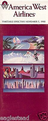 2019 New Style Airline Timetable - America West - 05/11/88