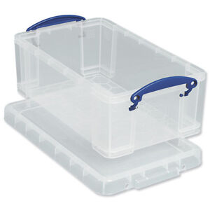 Image Is Loading 2 Clear Plastic Storage Boxes Amp Lids For
