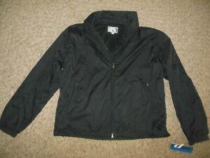 NWT-ProSpirit-Men-Large-Black-Lighterweight-Nylon-Windbreaker-Jacket-Mesh-Lined