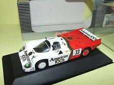 PORSCHE 956 long tail N°33 LE MANS 1985 QUARTZO Q3076 1:43 Arrivée 4ème