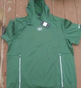 Details zu Nike NFL New York Jets On Field Sideline Therma Short Sleeve Hoodie Mens 2xl