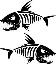 Tank Aufkleber Für Harley skull  Fisch Bone old School set R. und L.