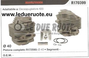 R170399 Kit Cilindro y Pistón Maruyama 420 Cortador de Cepillo Ø 40