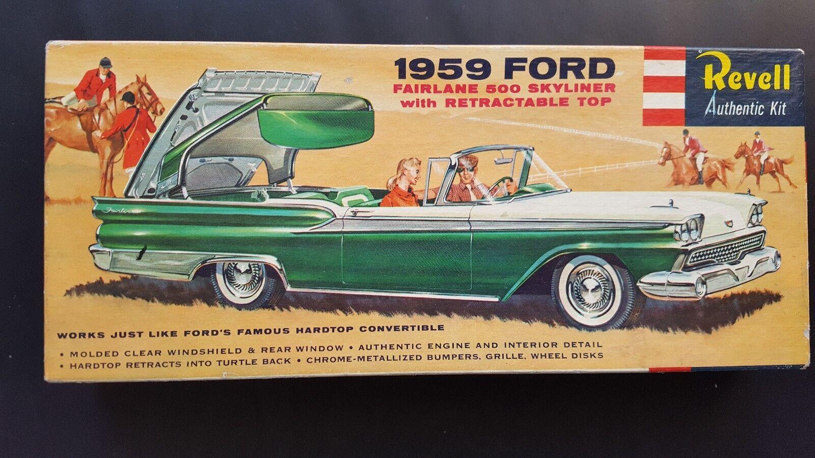 V.RARE REVELL  s  CEMENT 1959 FORD FAIRLANE 500 SKYLINER ORIGINAL-COMPLETE VNC