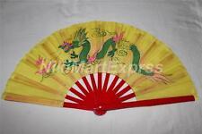 Quality Oriental Chinese Bamboo & Silk Hand Folding Fan, Wall Art, Decoration