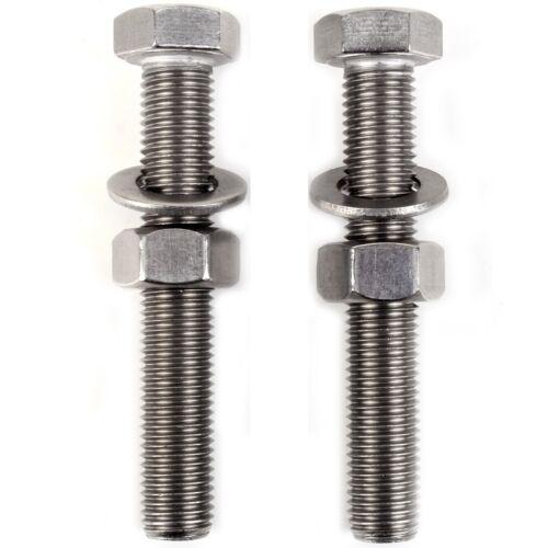 10x A2 STEEL FULL METRIC THREAD HEX HEAD BOLTS FULL NUTS /& WASHERS M3-M16 Screw