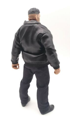 M Size Black Faux Leather Trench Zips Jacket for Mezco Punisher No Figure