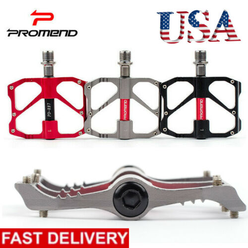 1Pair 9//16in MTB Road Bike Pedal Sealed 3 Bearing Flat//Platform Light Weight